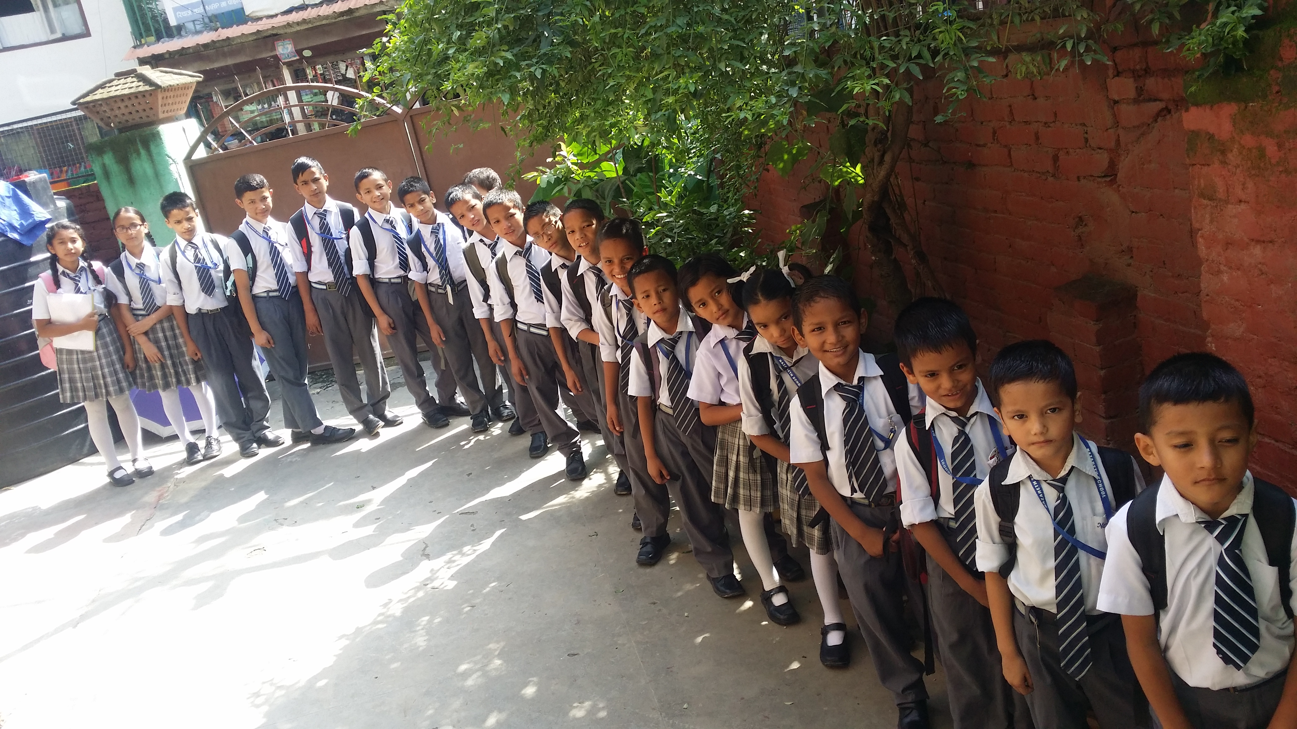 children ready for school